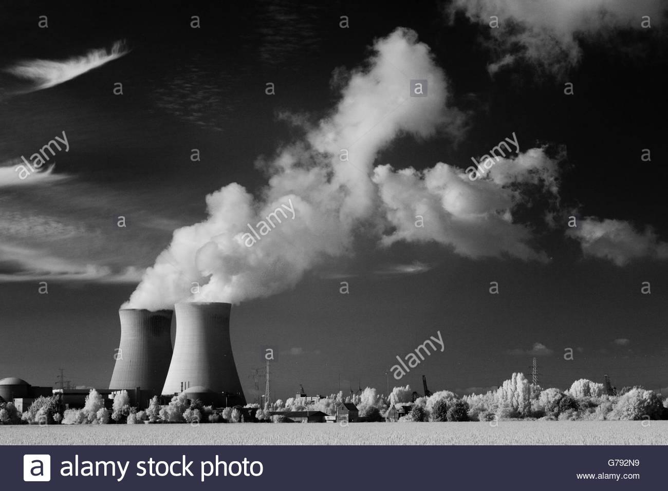 nuclear power plant Doel, Belgium - Stock Image