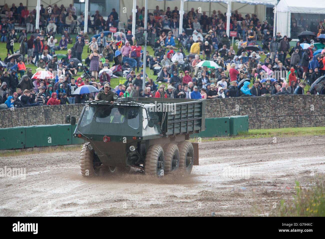 Bovington, Dorset, UK. 25th June 2016. Tankfest military show. Alvis Stalwart Mk2 highly mobile amphibious military Stock Photo