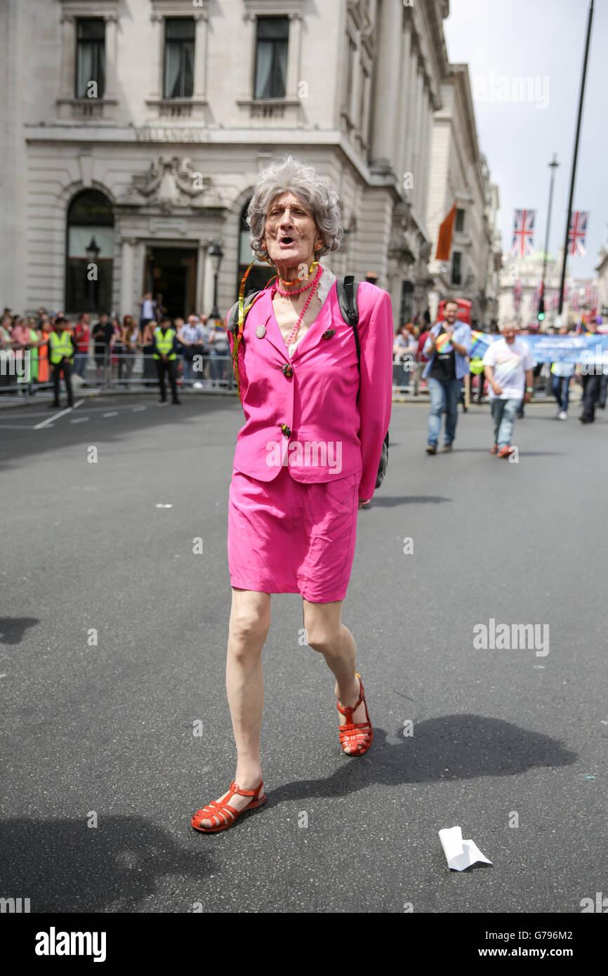 London, UK  25th June, 2016. Pride in London parade. Copyright Carol Moir/Alamy Live News. Stock Photo