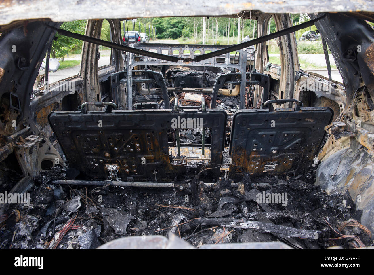 Unidentified Police Car Stock Photos Metal Motorsports Wiring Harness Berlin Germany 26th June 2016 Harnesses Heating Coils And Charred