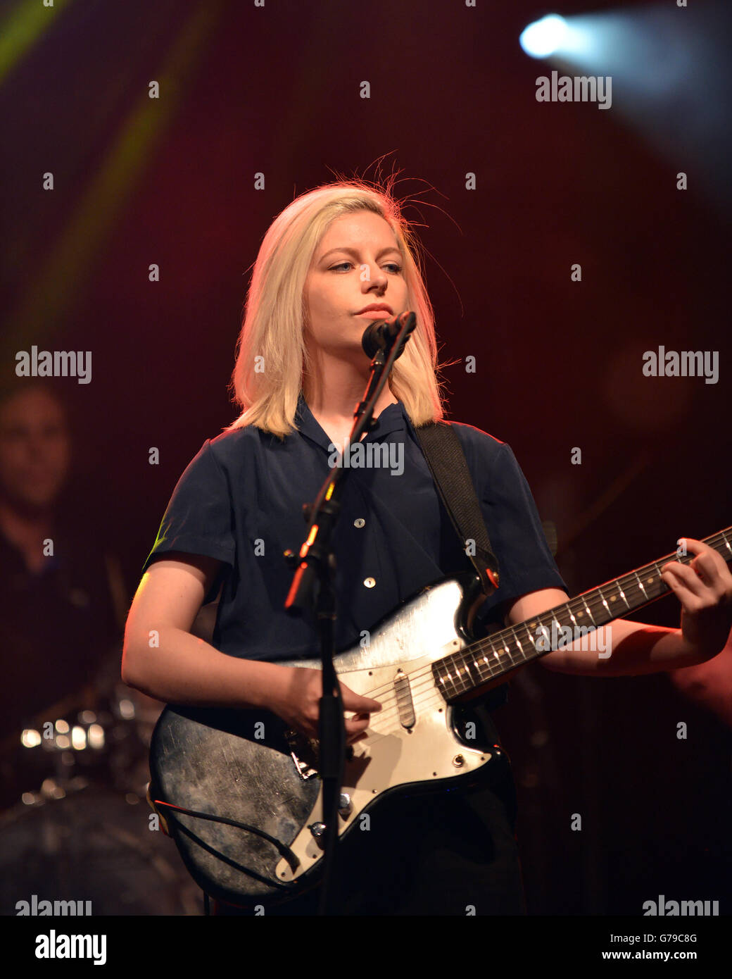 Ottawa, Canada - June 25, 2016:  Molly Rankin, lead singer of the indie pop band Alvvays that topped the US college - Stock Image
