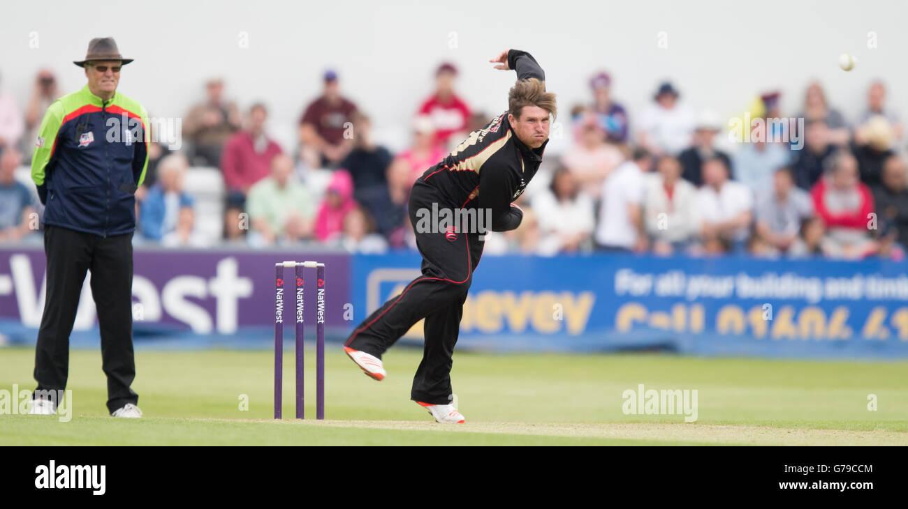 County Cricket Ground, Northampton, UK. 26th June, 2016. Natwest T20 Blast. Northamptonshire Steelbacks versus Leicestershire. - Stock Image