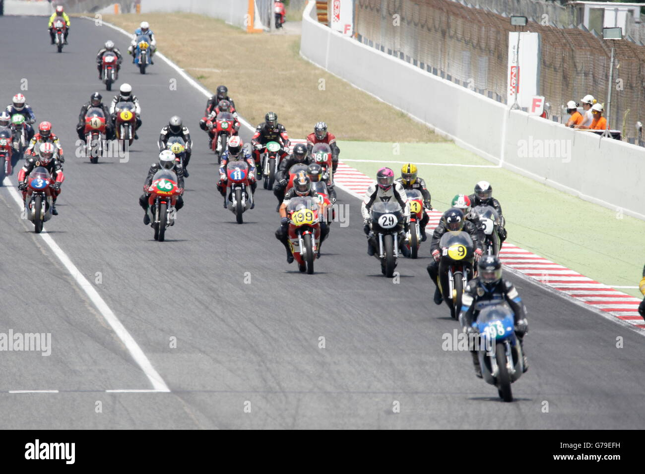 Barcelona, Spain. 26th June, 2016. Start of the Classics 1 race at the Circuit of Catalunya. Credit:  Pablo Guillen/Alamy - Stock Image