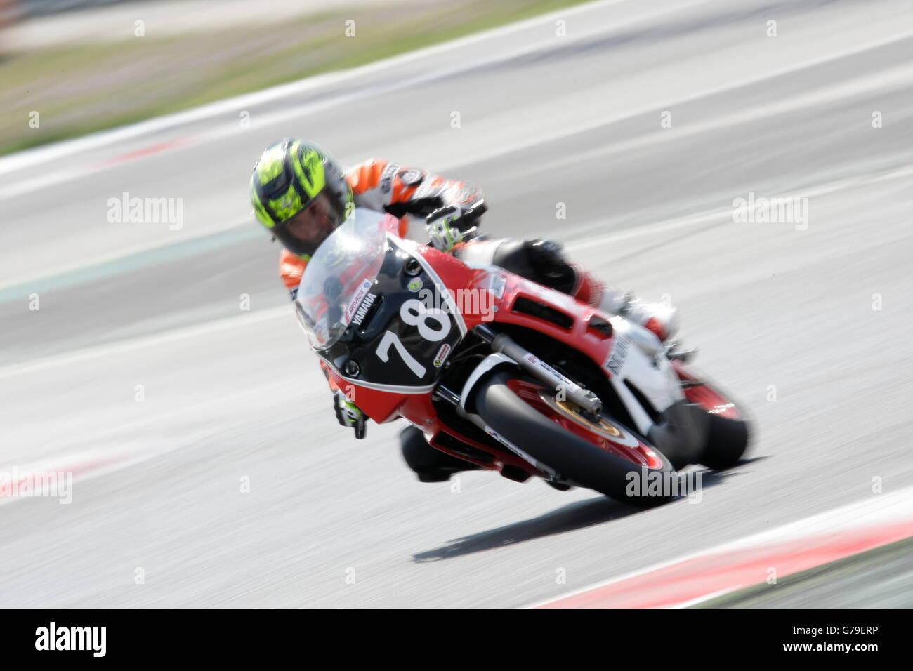 Barcelona, Spain. 26th June, 2016. FERNANDEZ APARICIO, ANDRES member of the Penya Motorista Barcelona team, in action - Stock Image