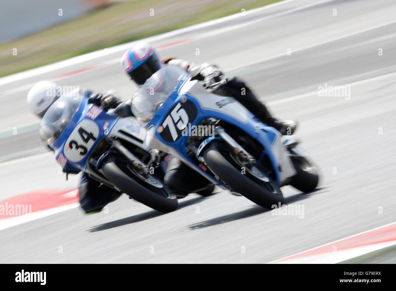 Barcelona, Spain. 26th June, 2016. OLIVERAS VENTEJO, IMMA motor bike number 75 member of the Penya Motorista Barcelona - Stock Image