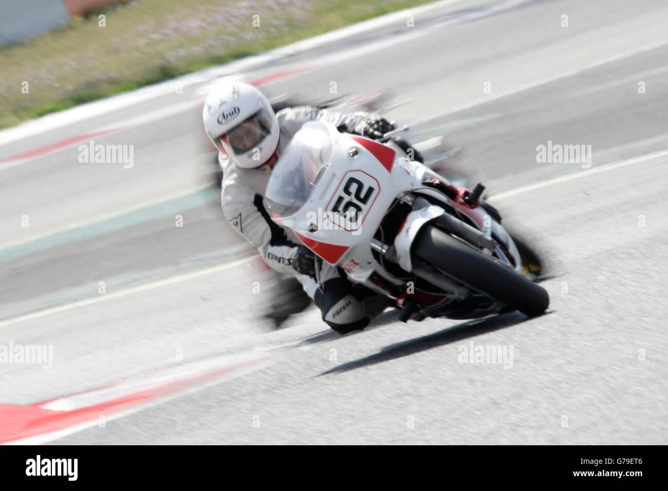 Barcelona, Spain. 26th June, 2016. CABANES CATALA, JORGE SANTIAGO member of the Moto Club Escudería Pistón - Stock Image