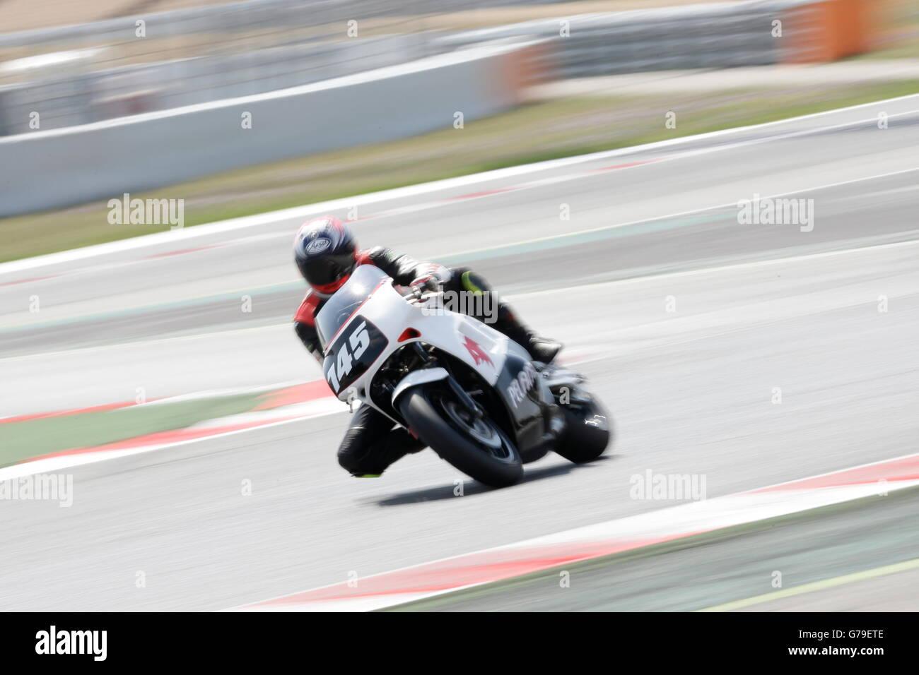 Barcelona, Spain. 26th June, 2016. ESTEVE MOLINA, LLIBERT member of the Moto Club Gavà team, in action during - Stock Image