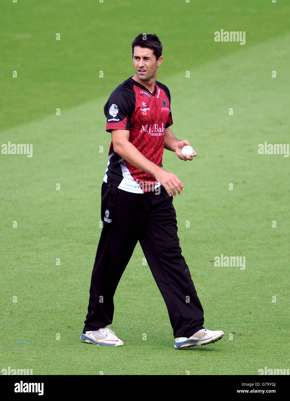 Cricket - Royal London One Day Cup - Surrey v Somerset - Kia Oval - Stock Image