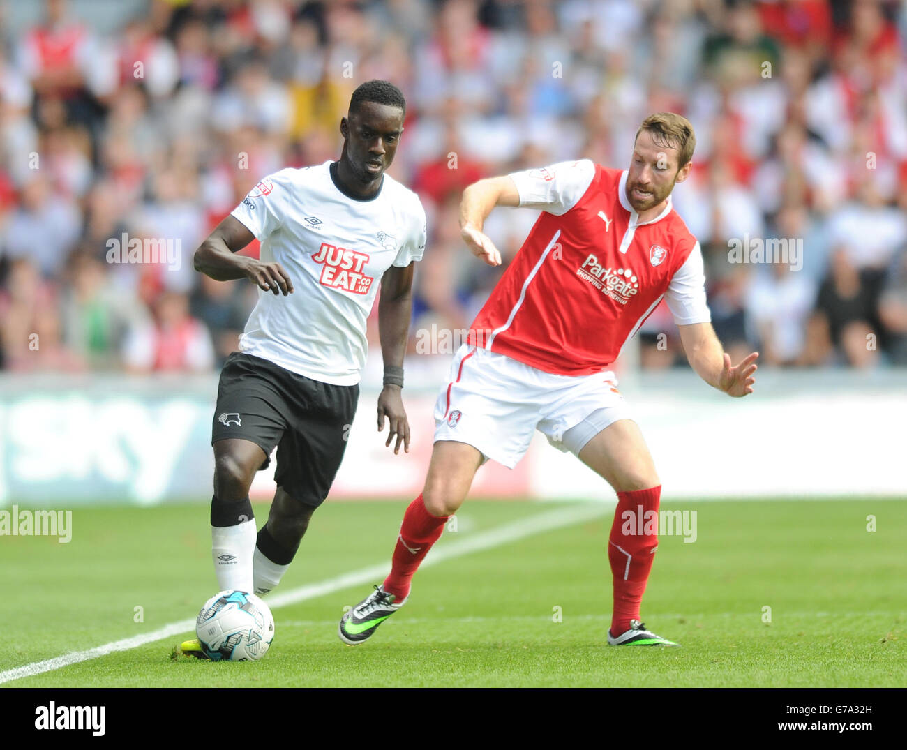 Soccer - Sky Bet Championship - Derby County v Rotherham United - iPro Stadium - Stock Image