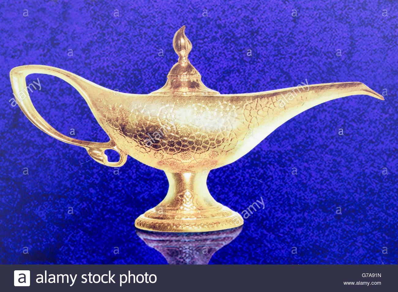 poster for the Disney movie Aladdin's lamp Stock Photo