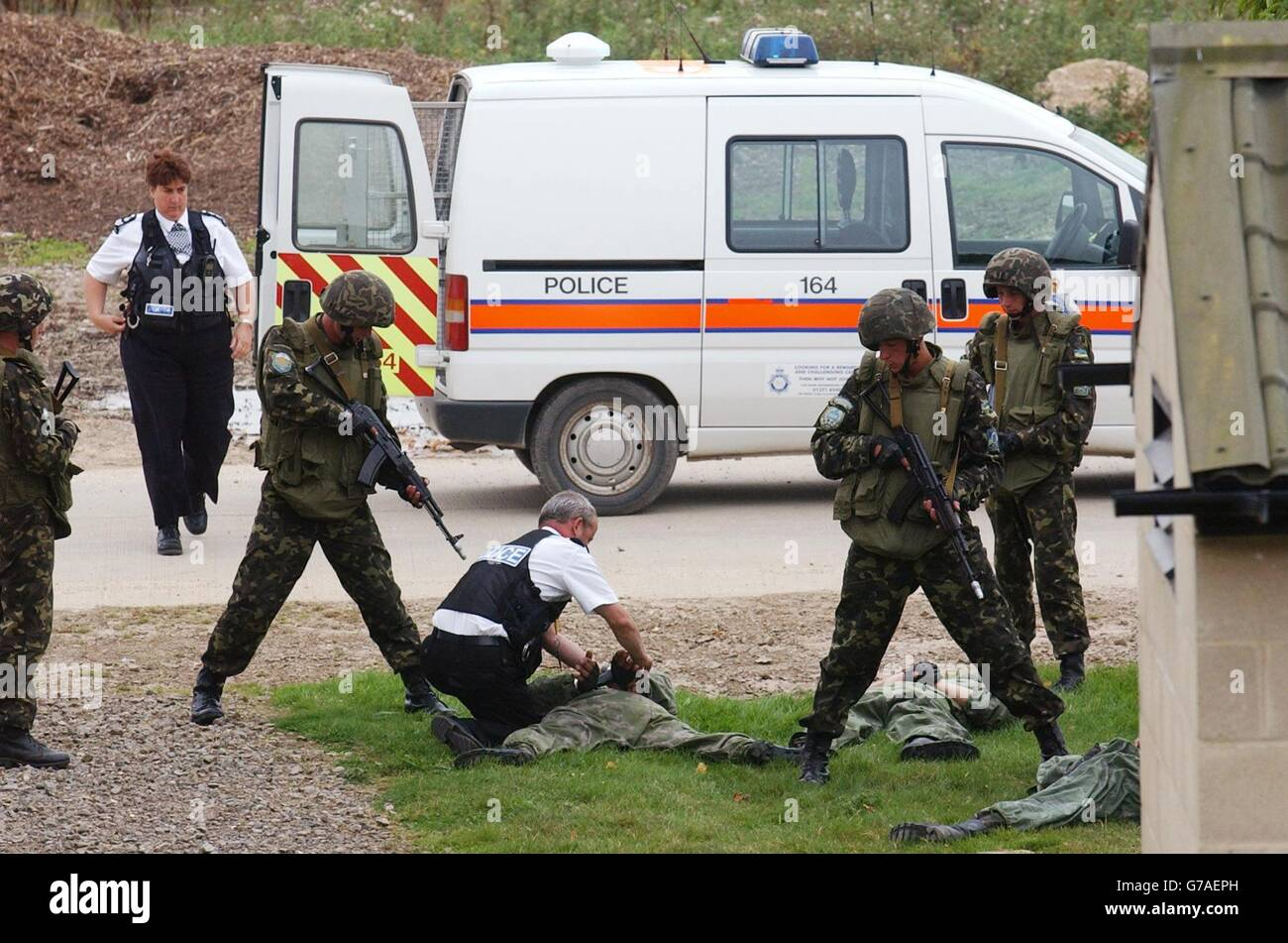 civil disturbance exercise - Stock Image