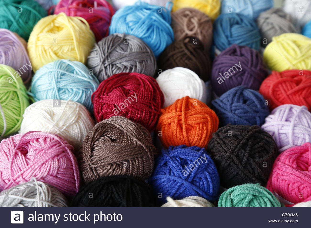 wool for knitting - Stock Image
