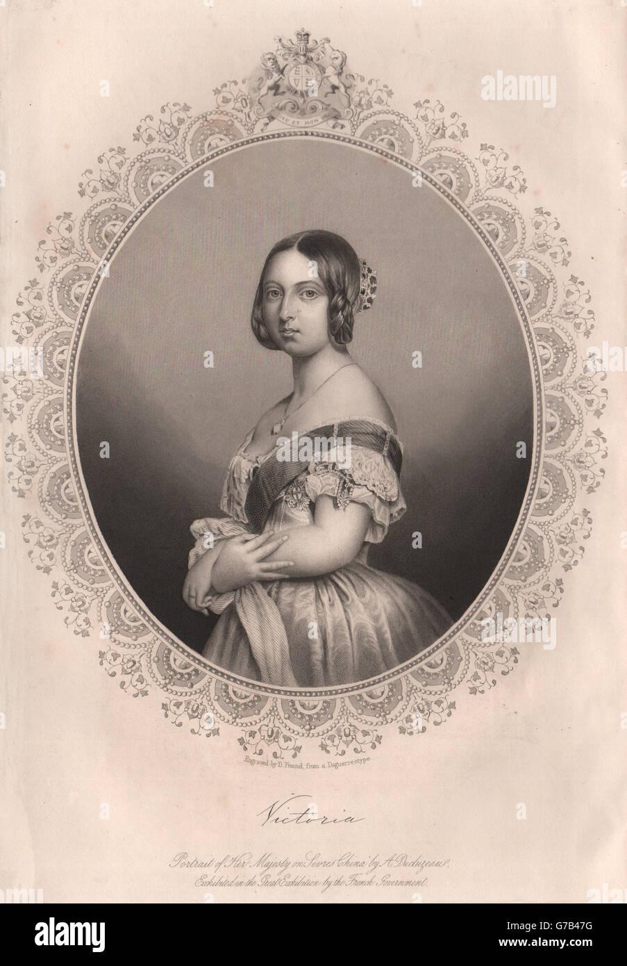Queen Victoria. TALLIS, antique print 1853 - Stock Image
