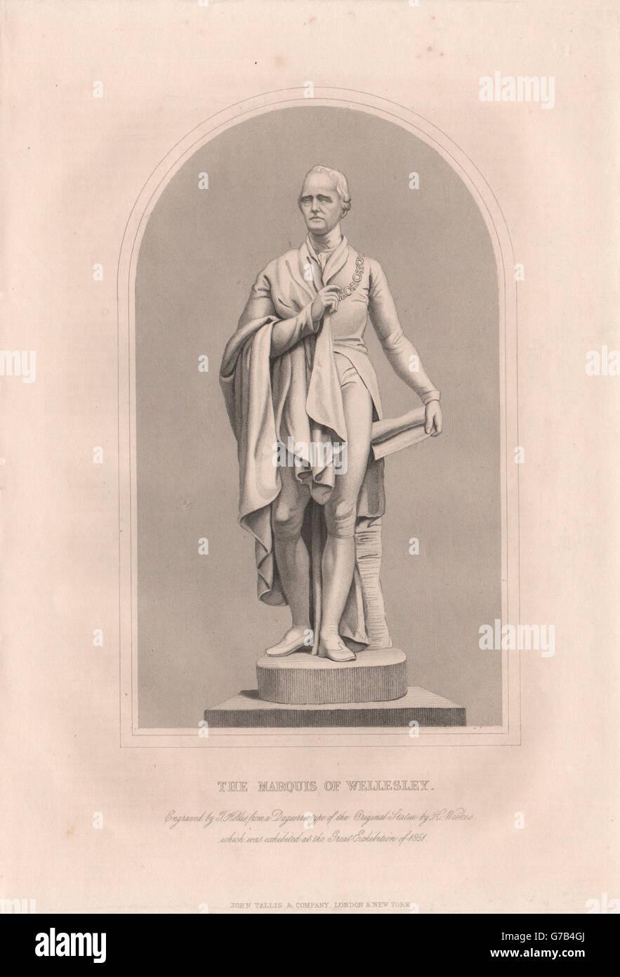 The Marquis of Wellesley. Ireland. TALLIS, antique print 1853 - Stock Image