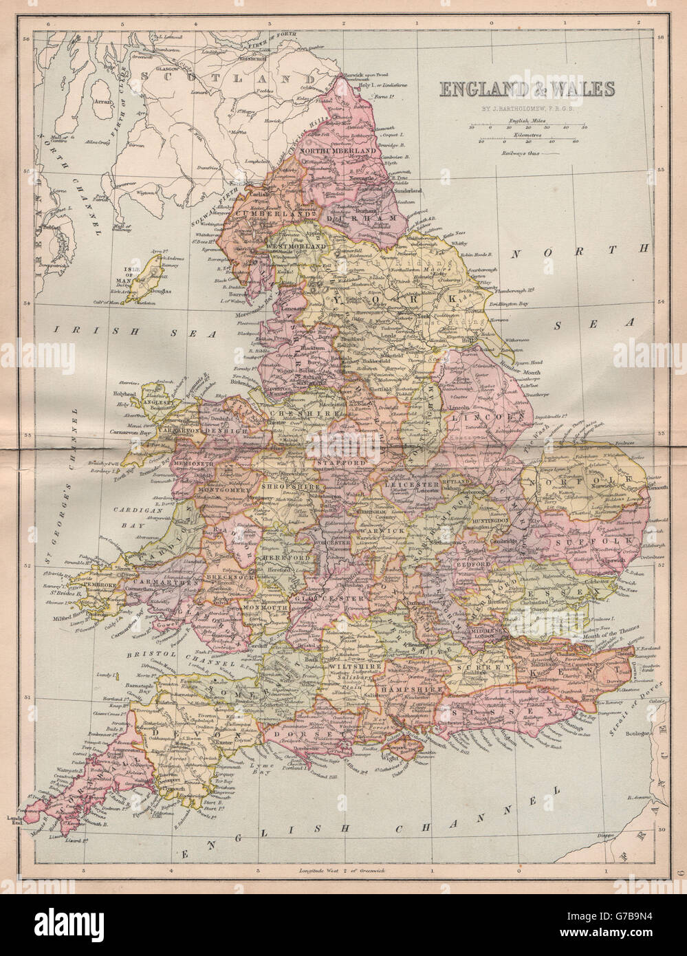 Map Of The Counties In England.Great Britain Map Counties Stock Photos Great Britain Map Counties