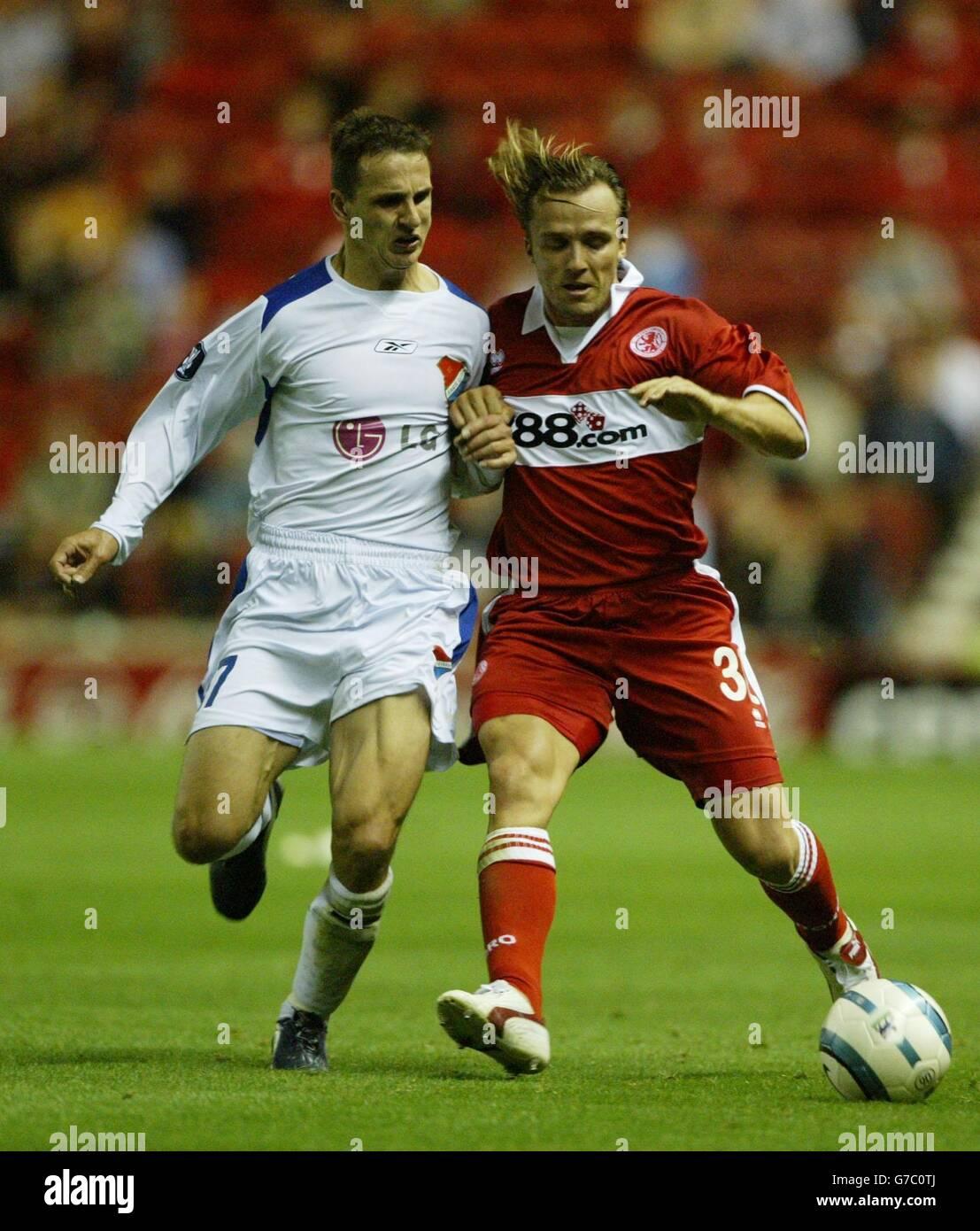 Middlesbrough v Banik Ostrava - Stock Image