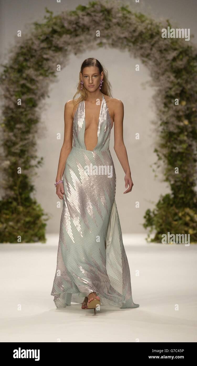 Ben De Lisi London Fashion Week Stock Photo Alamy
