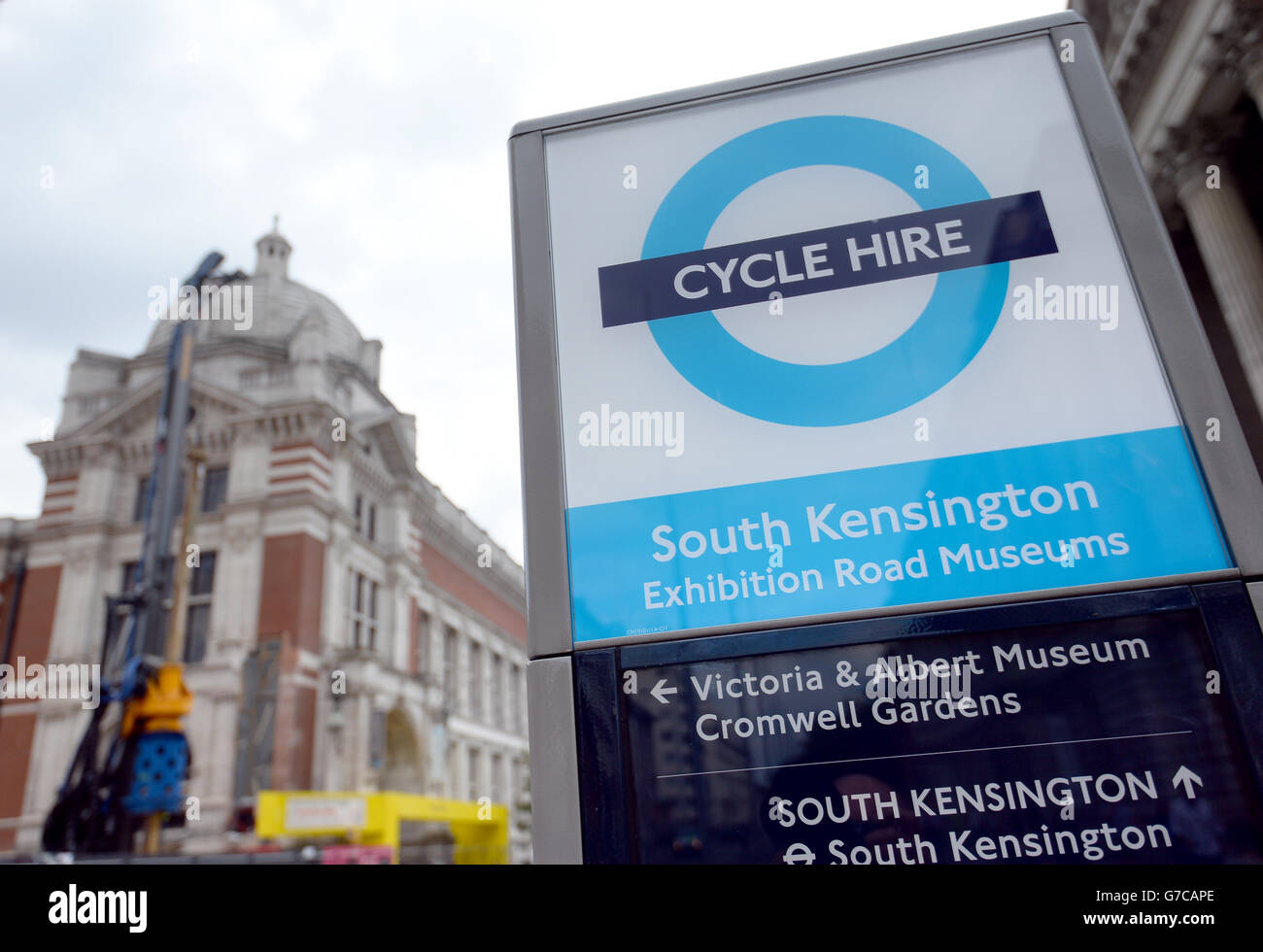 London Cycle Hire Stock Stock Photo
