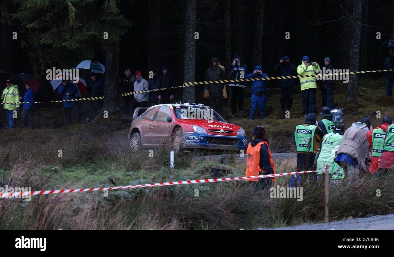 Crychan Special Stage of the Wales Rally GB - Stock Image