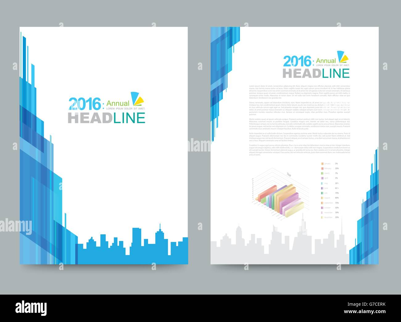 Cover template design for business annual report flyer brochure ...