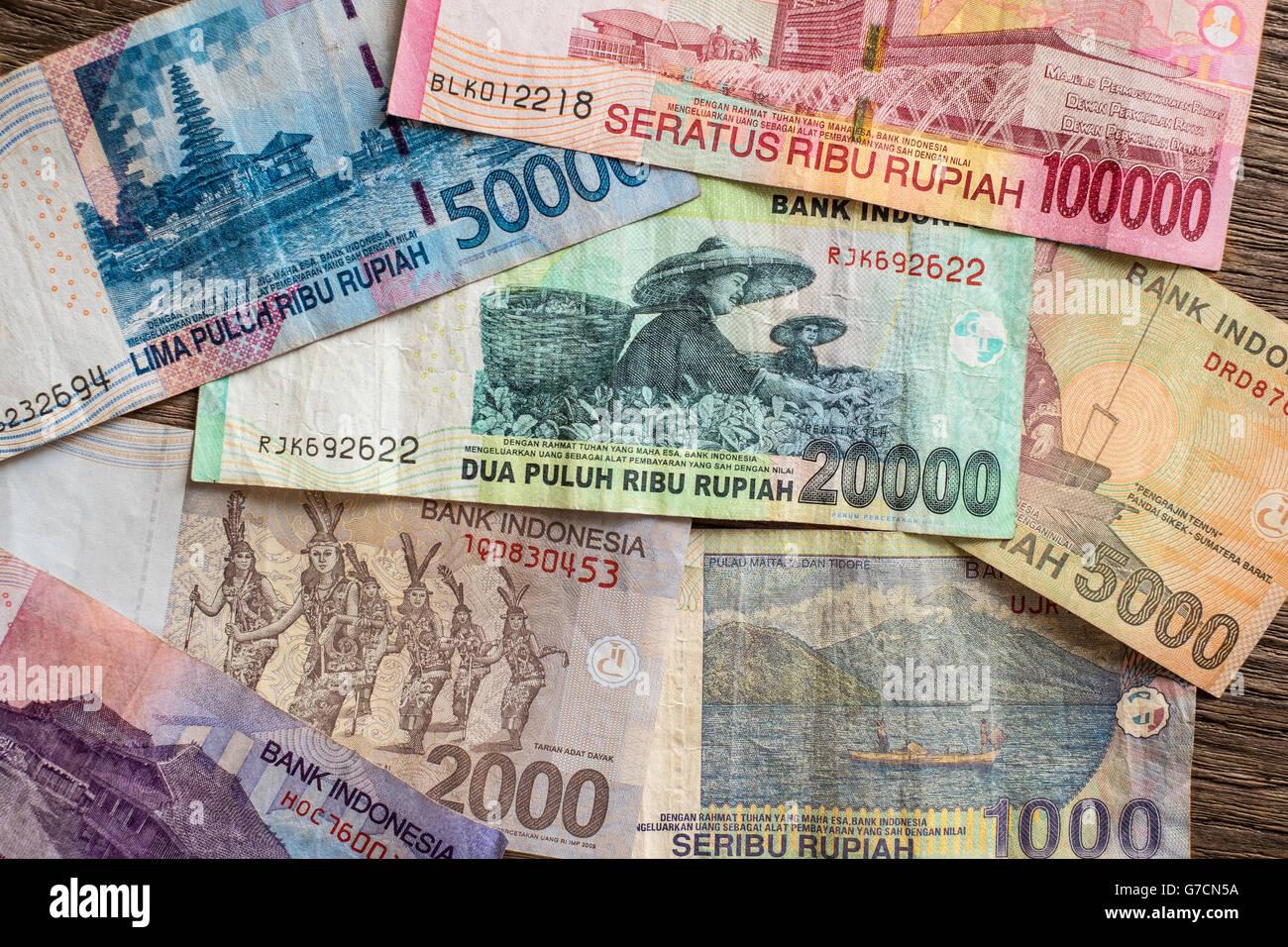 Indonesian Rupiah Note Stock Photos & Indonesian Rupiah Note