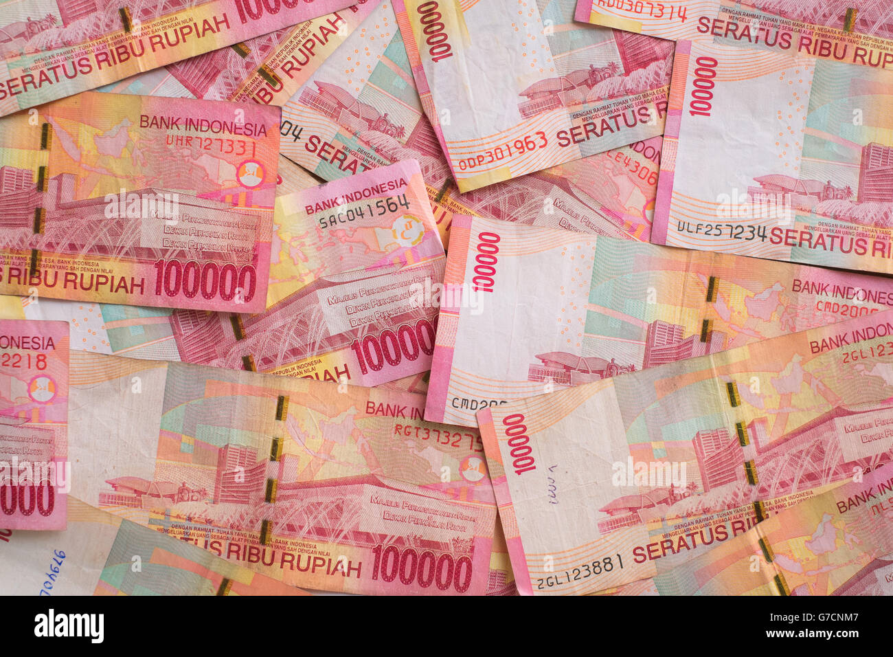Indonesia currency notes - Stock Image