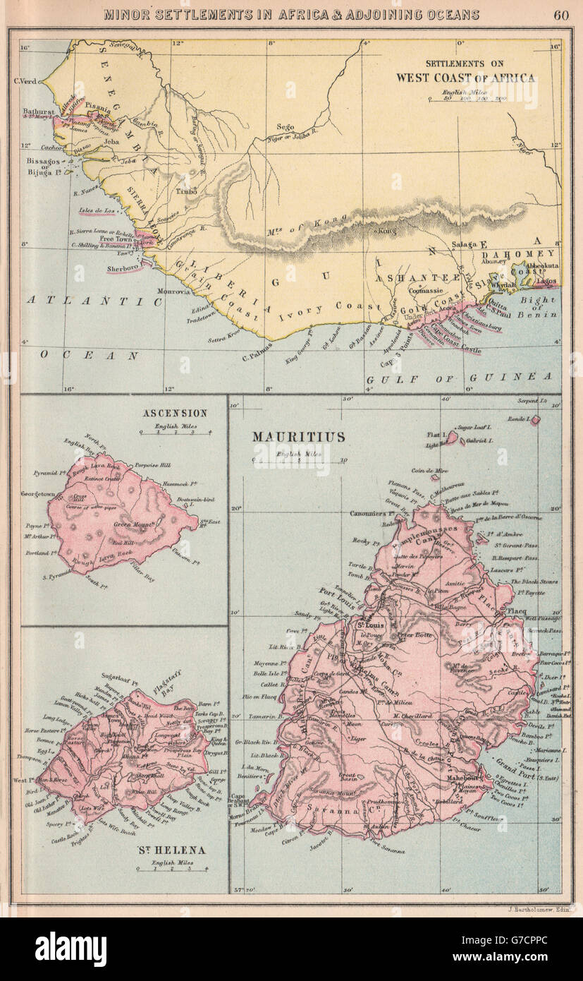 British African Colonies West Africa Ascension St Helena Mauritius
