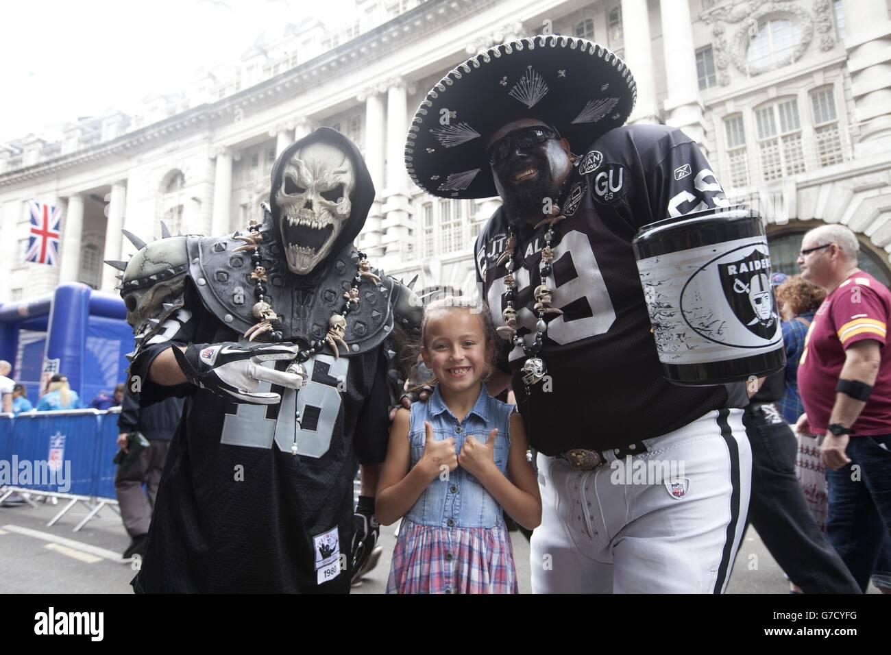 NFL on Regent Street - London - Stock Image