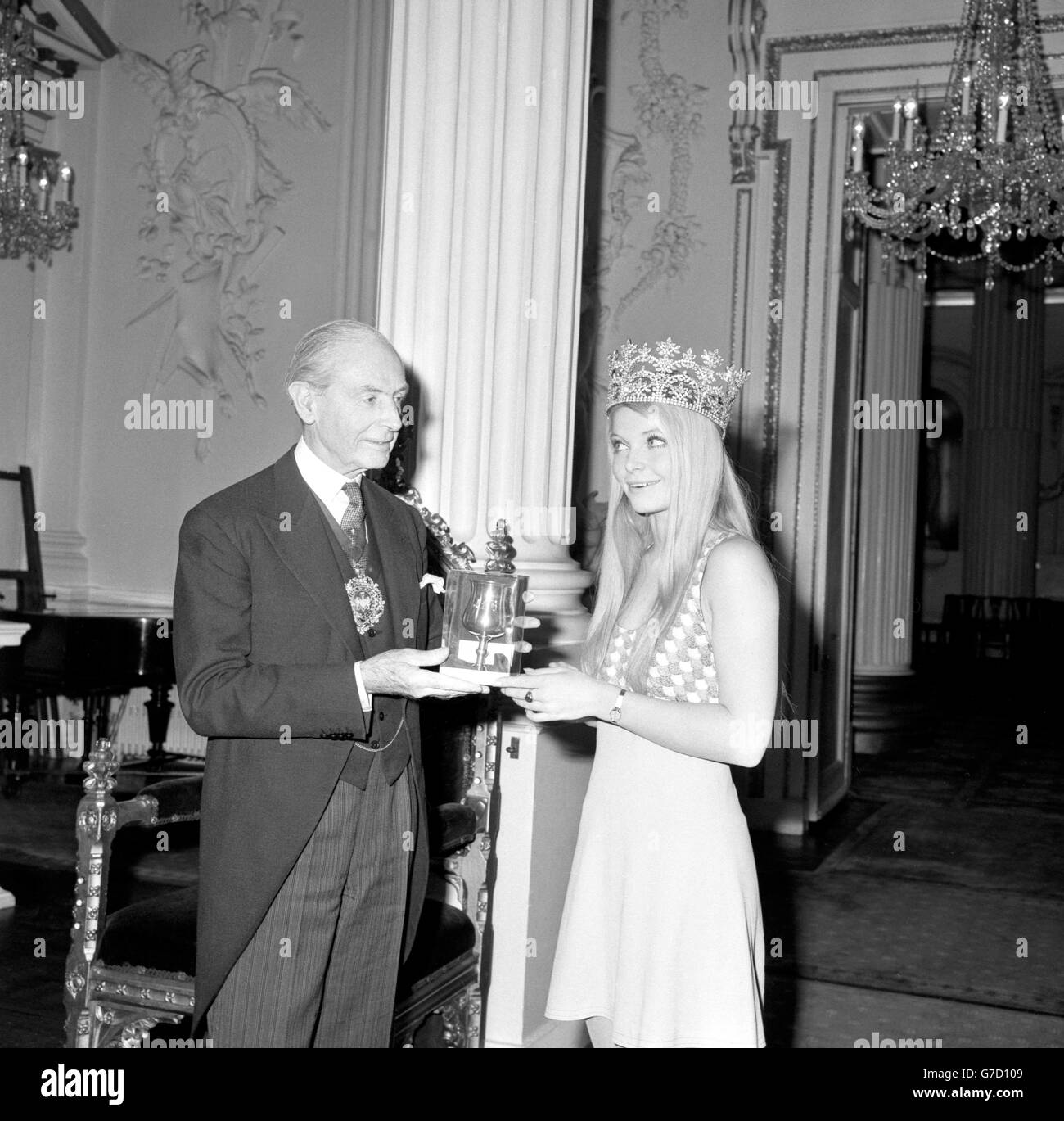 Miss World 1969 - Mansion House, London - Stock Image
