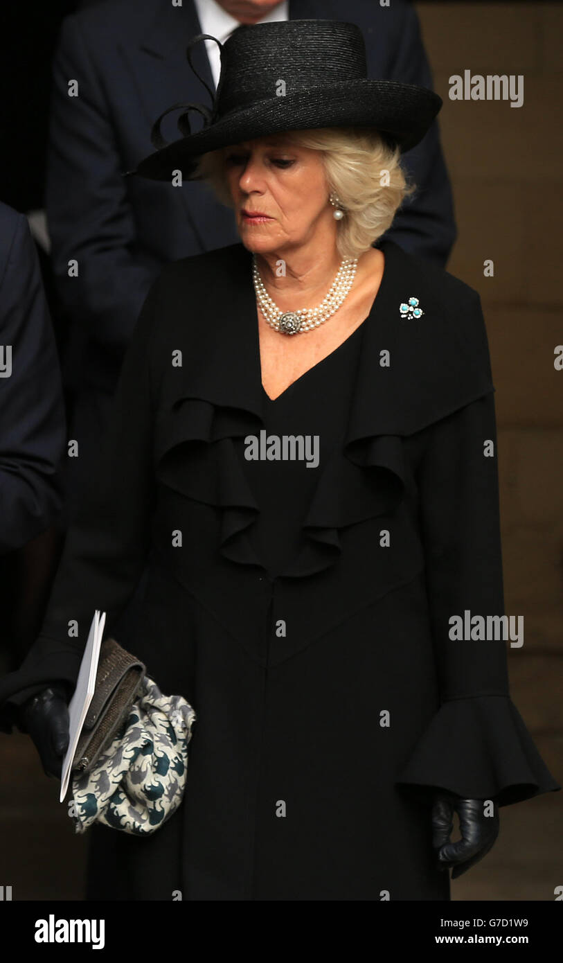 Deborah, the Dowager Duchess of Devonshire funeral - Stock Image