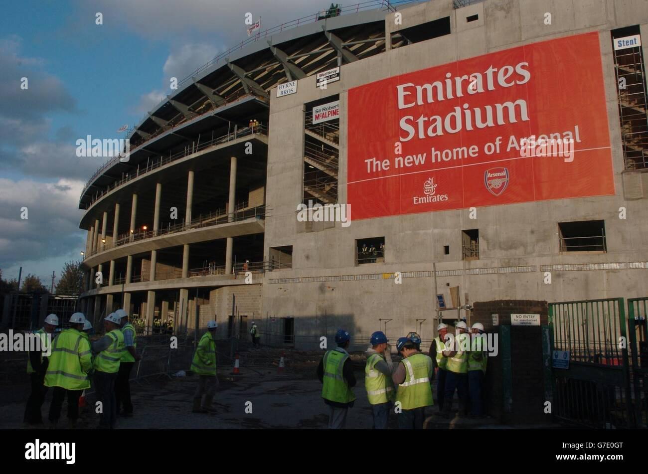 Arsenal's new stadium - Stock Image