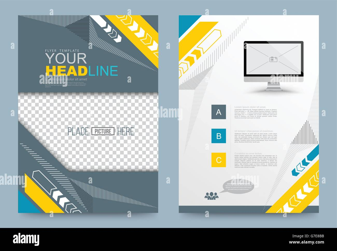 cover template design for business annual report flyer brochure leaflet presentation and printing press vector illustration la