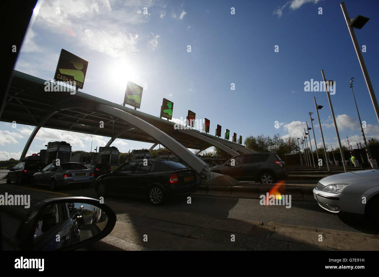 M6 Toll Road GV - Stock Image