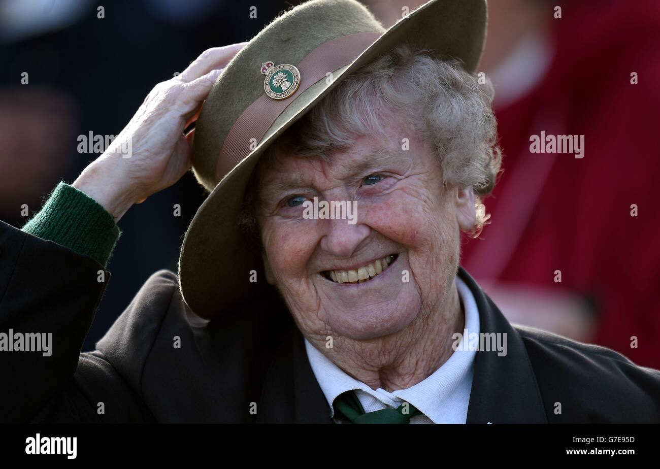 0ff5f5cb8cf Women s Land Army and Women s Timber Corps memorial Stock Photo ...