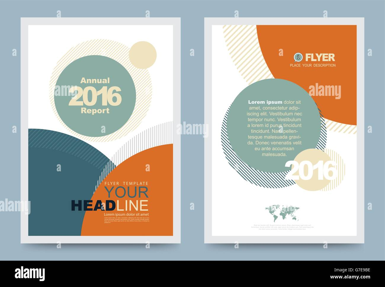 Cover Template Design For Business Annual Report Flyer