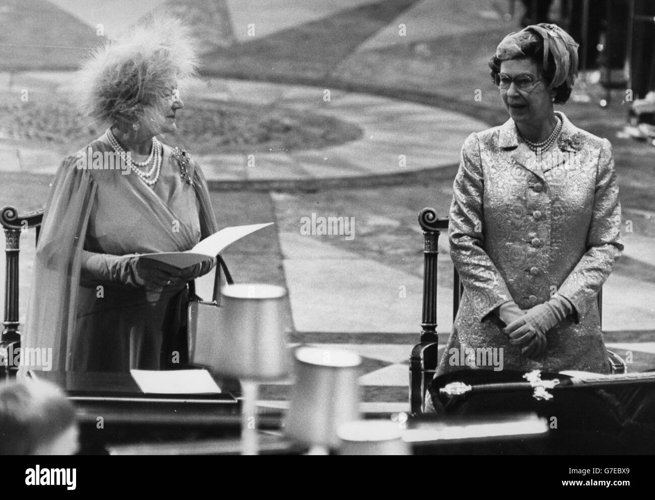 Royalty - Queen Mother's 80th Birthday - St Paul's Cathedral, London - Stock Image