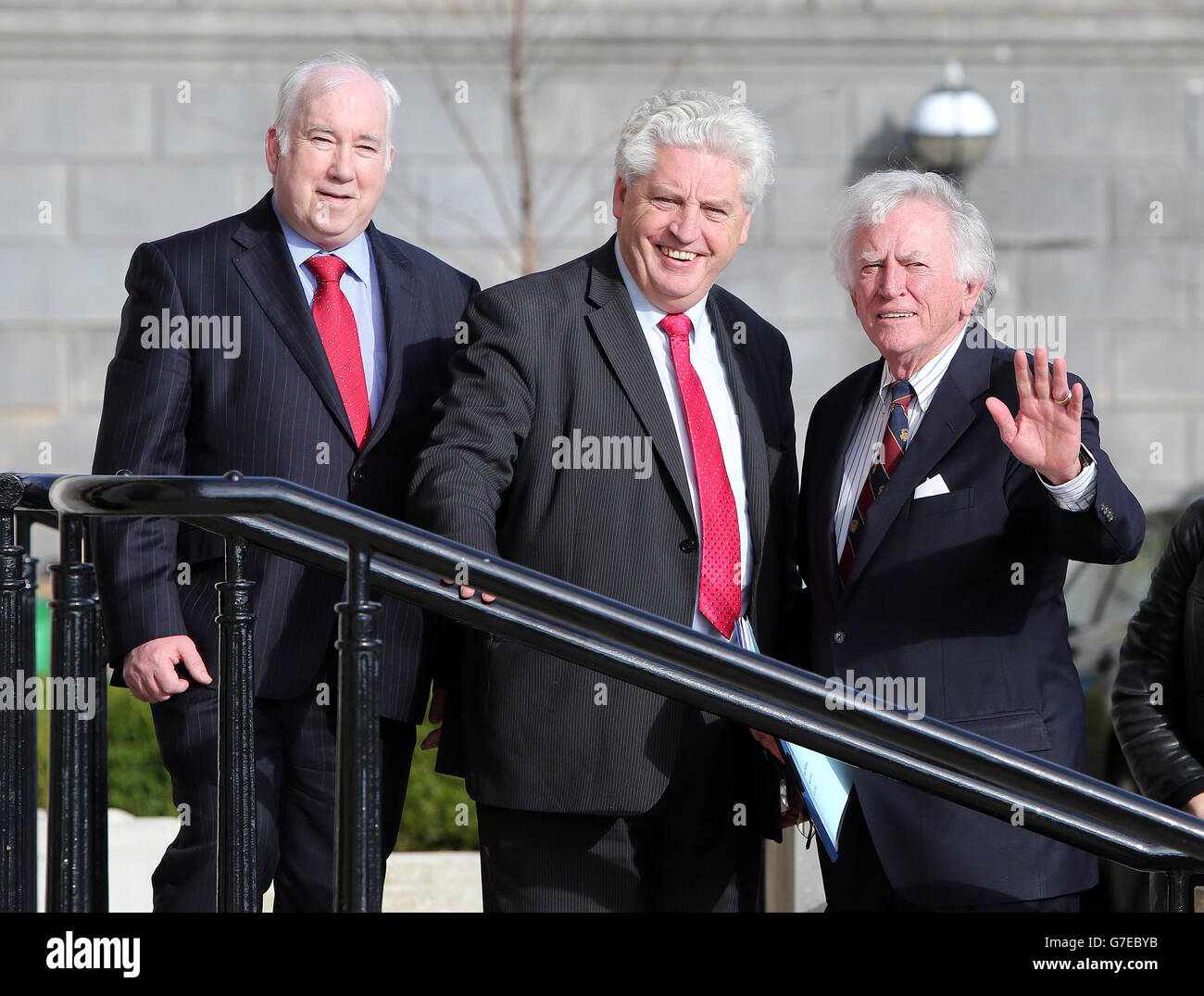 Gary Hart at Stormont - Stock Image