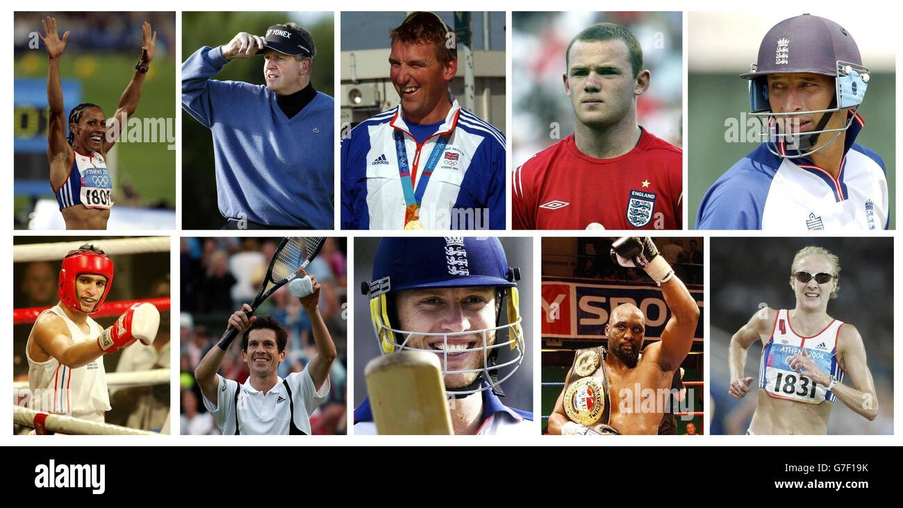 Sports Composite BBC Personality - Stock Image