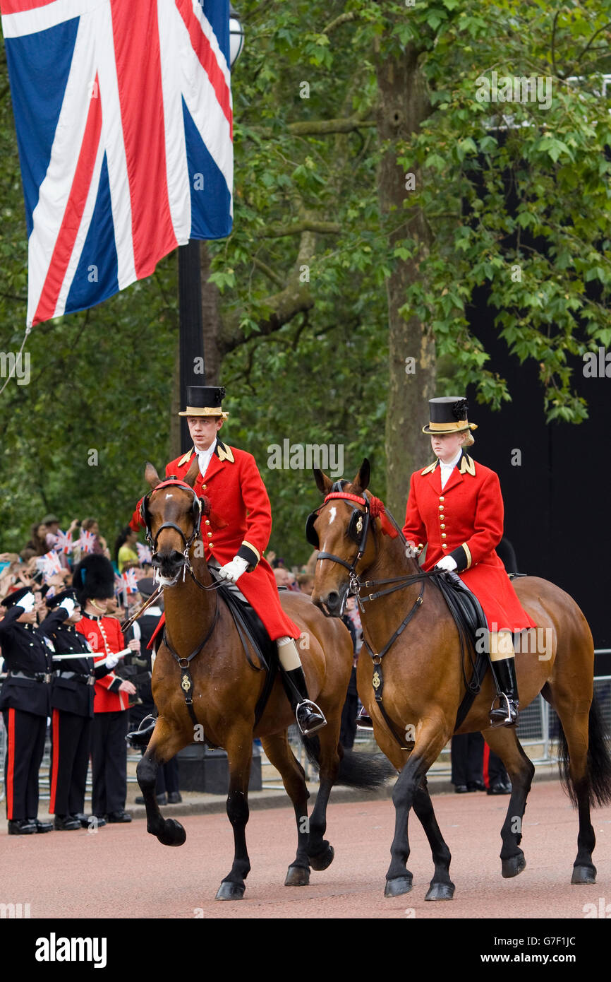 Cleveland Bays, and outriders for the Queen - Stock Image