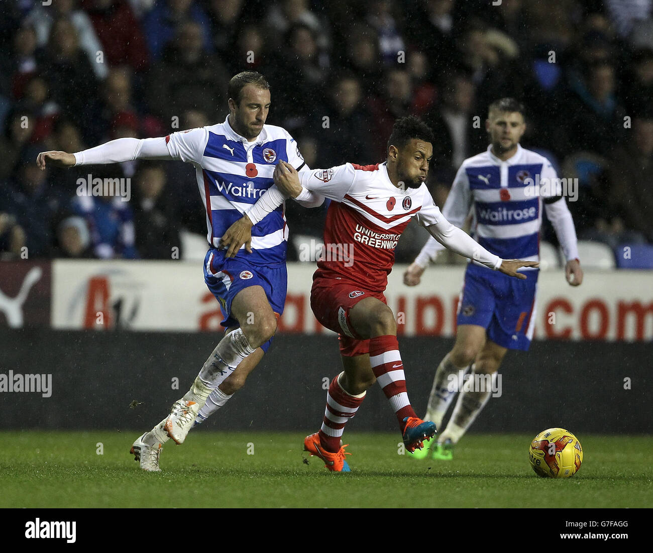 Soccer - Sky Bet Championship - Reading v Charlton Athletic - Madejski Stadium Stock Photo