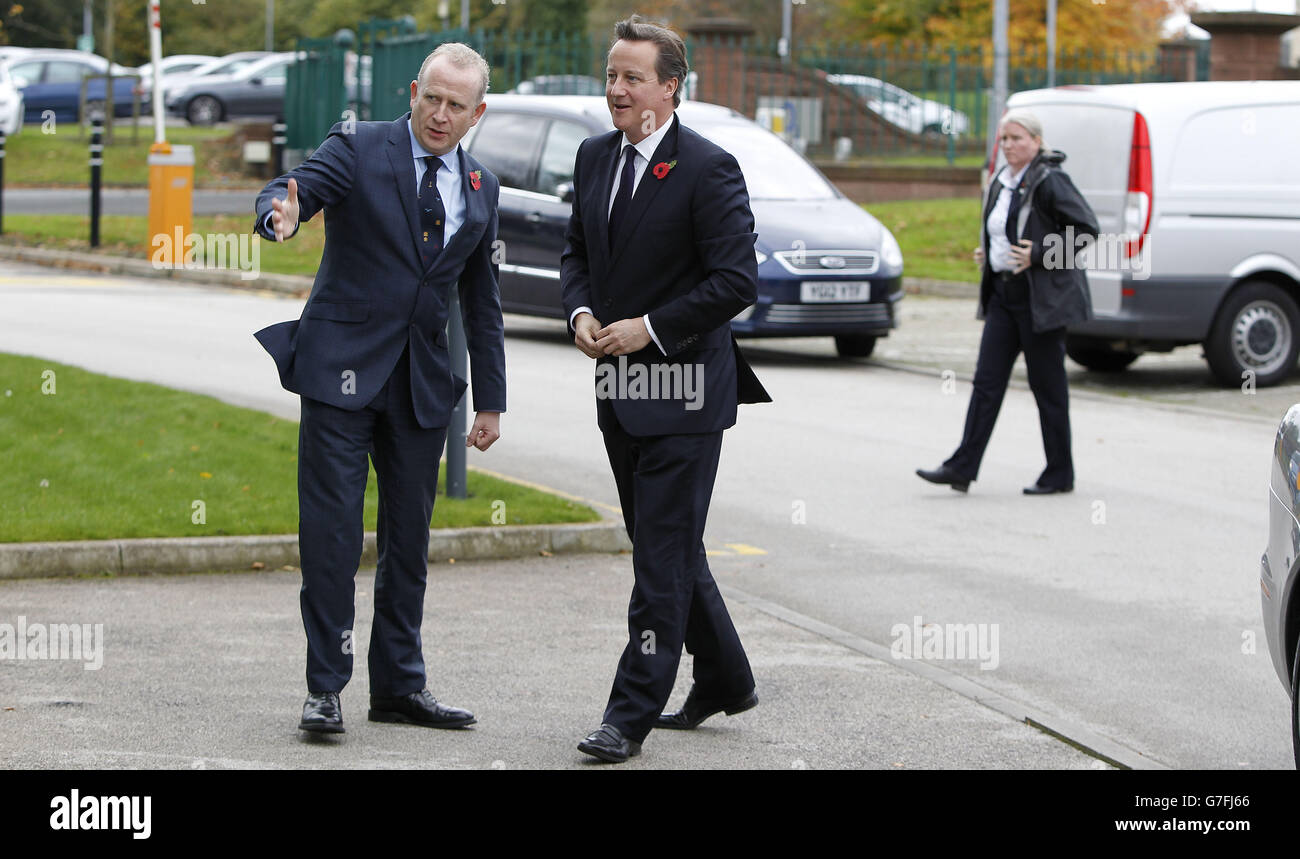 Cameron visit to north west - Stock Image