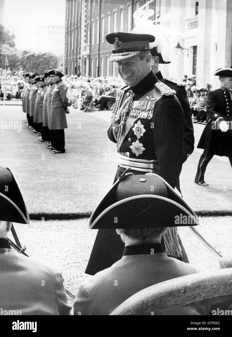 Royalty - Founder's Day Parade - Duke of Edinburgh - Royal Hospital - Chelsea, London - Stock Image