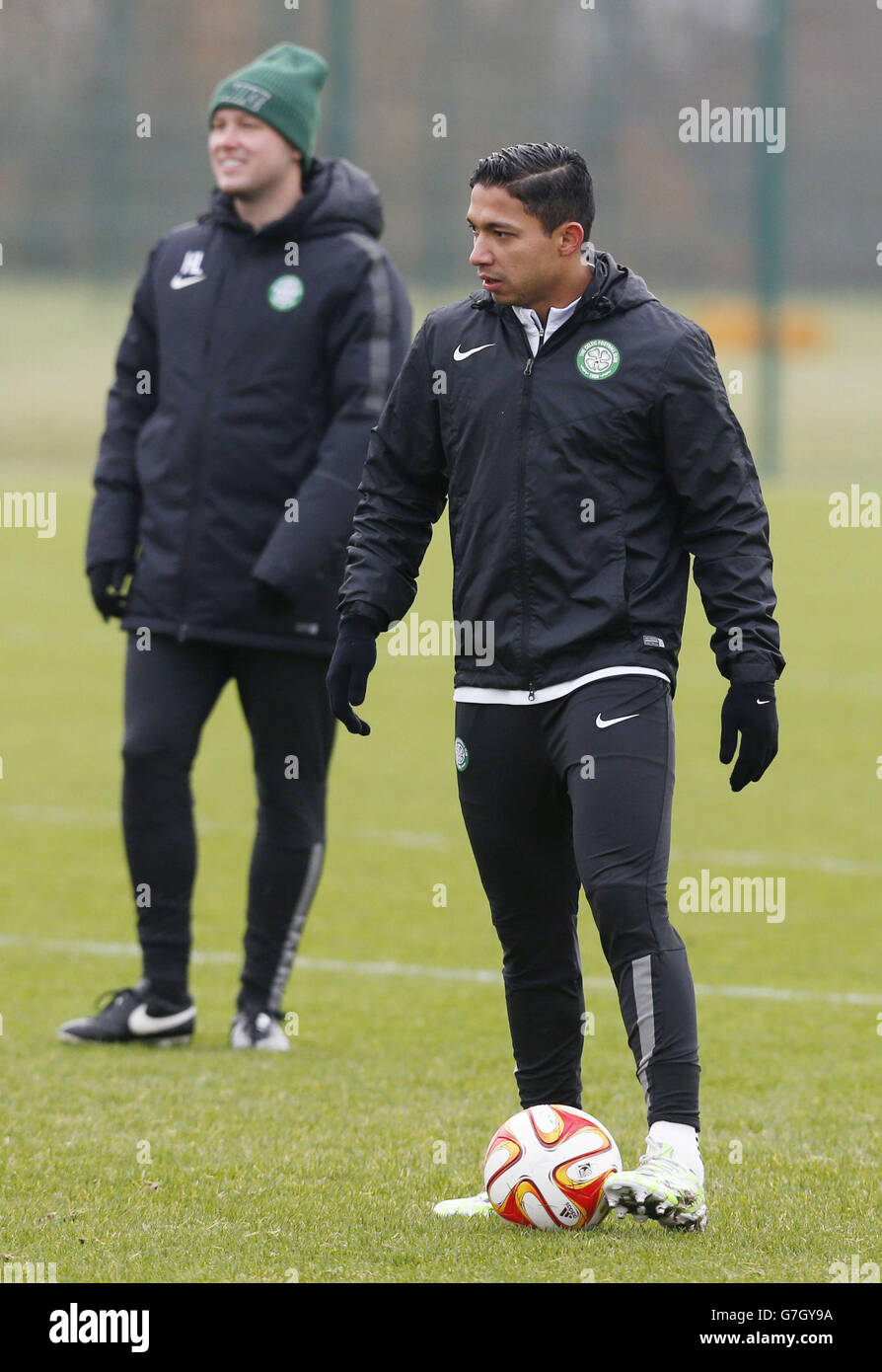 Soccer - UEFA Europa League - Group D - Celtic v FC Salzburg - Celtic Training Session - Lennoxtown Training Centre Stock Photo