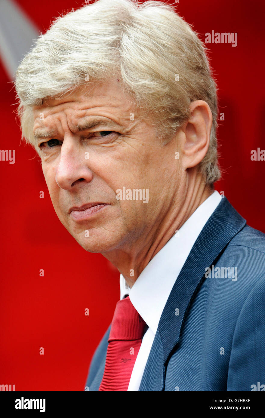 Arsene Wenger, manager of Arsenal during football test match between FC Cologne 1-2 Arsenal, Rhein-Energie-Stadion, - Stock Image