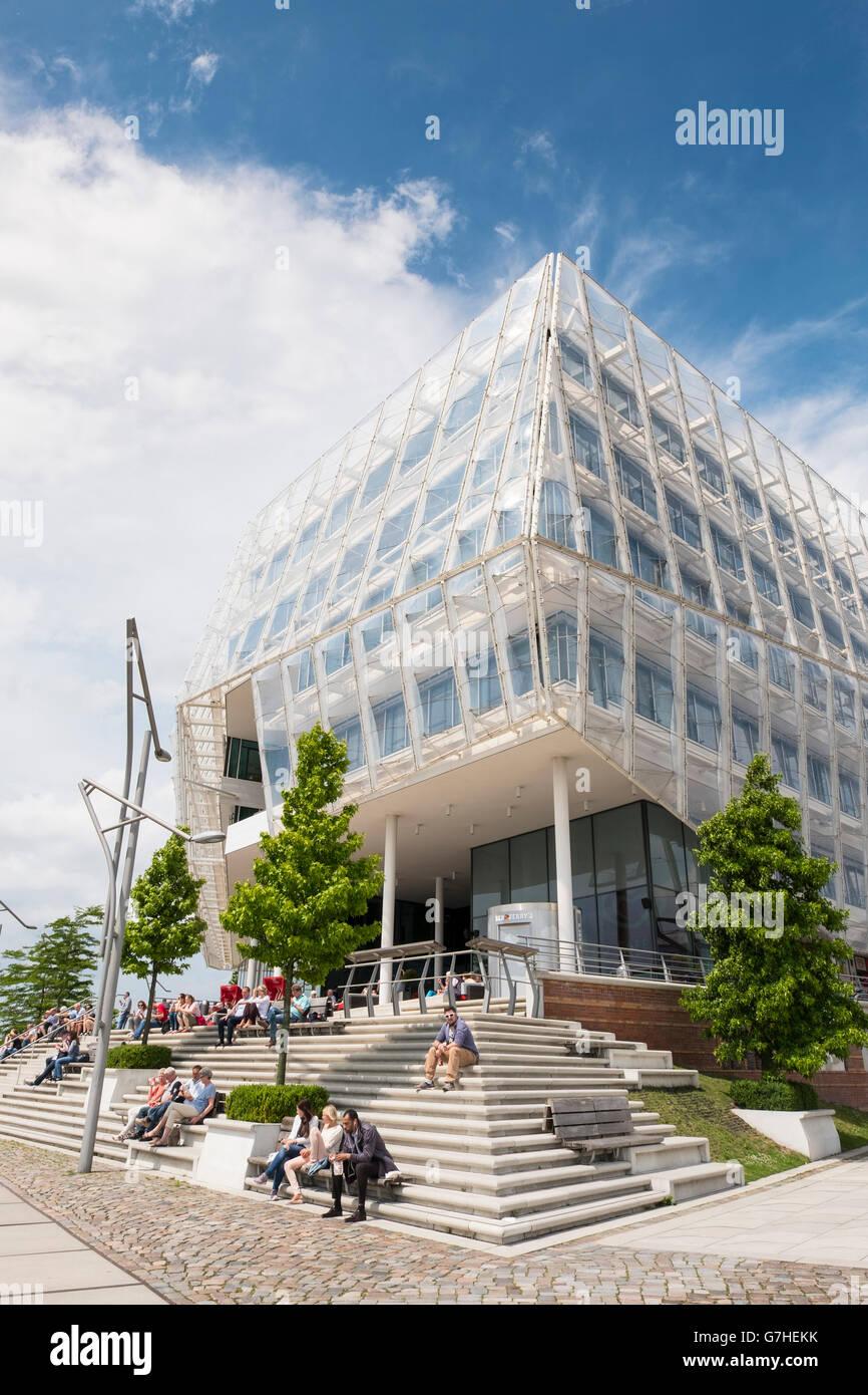 Modern headquarters of Unilever in Hafencity Hamburg Germany - Stock Image