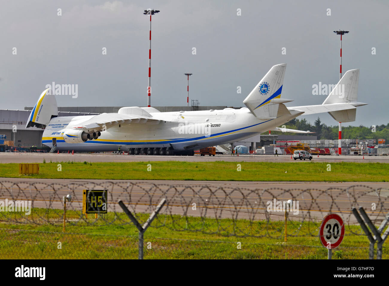 Antonov An-225 Mriya in flight - Stock Image