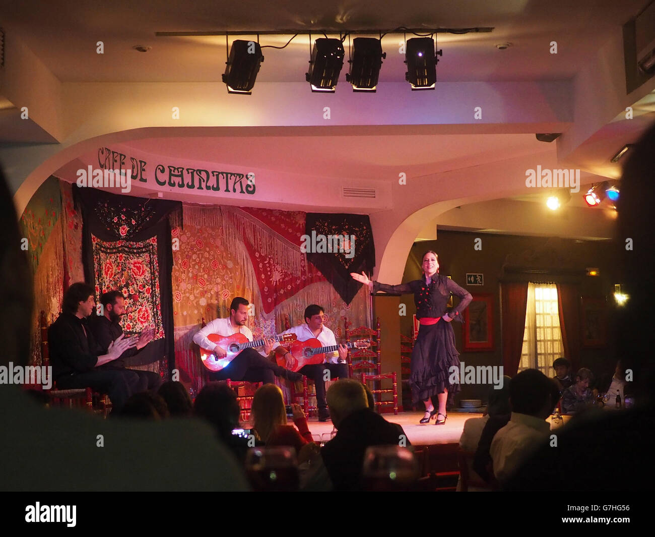 Flamenco club, Madrid, Spain - Stock Image