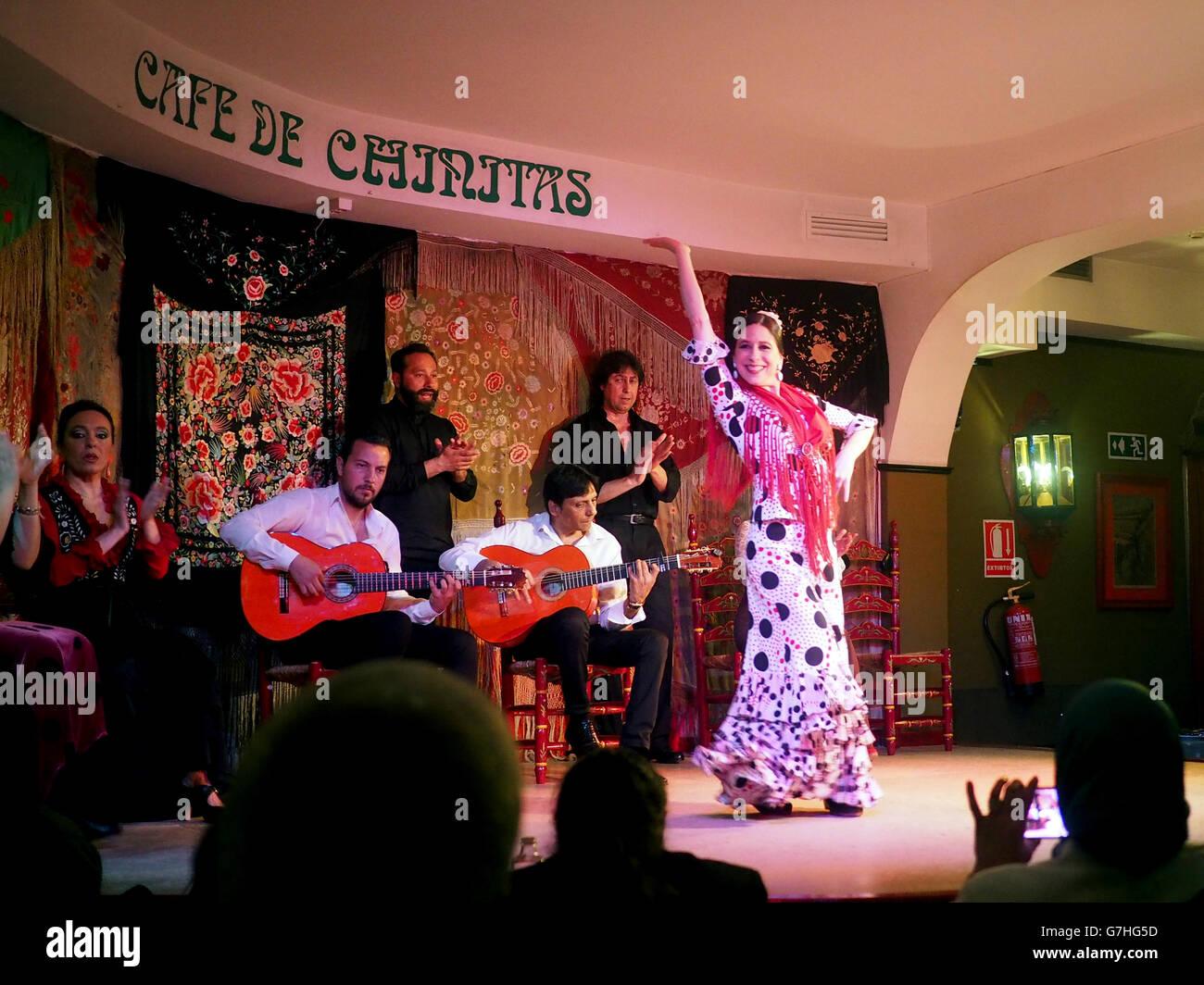 Flamenco club, Madrid, Spain - Stock Image