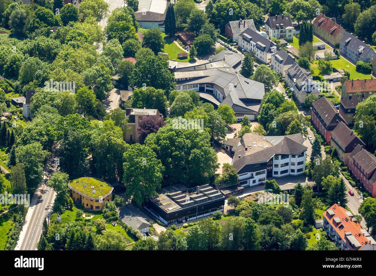 Luftbild, Rudolf-Steiner-Schule Bochum Langendreer,  Bochum, Ruhrgebiet, Nordrhein-Westfalen, DeutschlandAerial - Stock Image