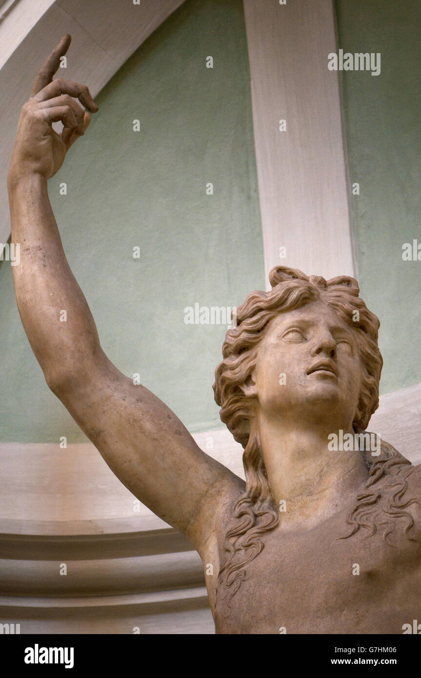 A marble statue at Uffizi Gallery, Florence - Stock Image